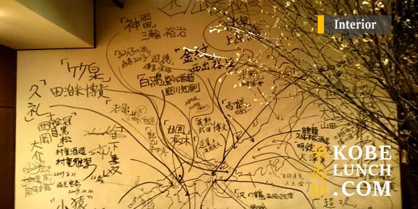 神戸北野坂栄い田の壁