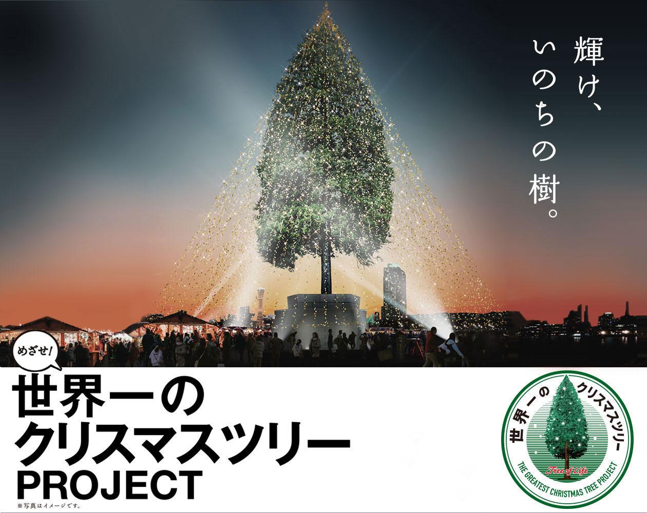 神戸に世界1のクリスマスツリー誕生