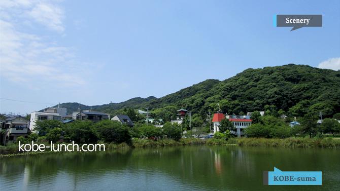 須磨寺の池