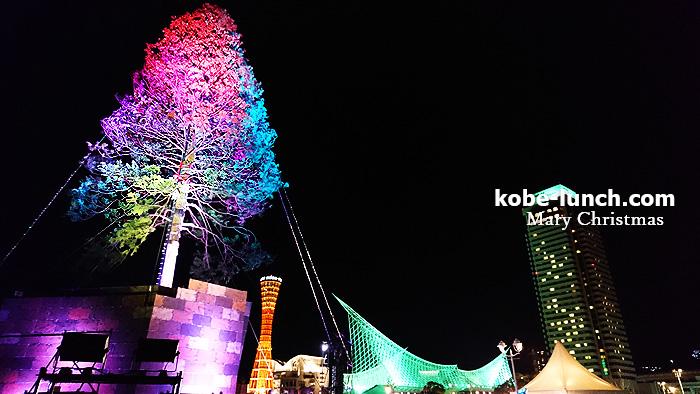神戸に高さ世界一のクリスマスツリー メリケンパーク
