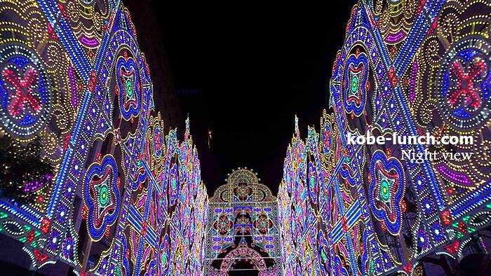 神戸ルミナリエ夜景