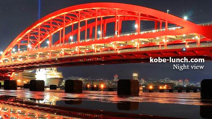 ポートアイランド夜景 神戸大橋