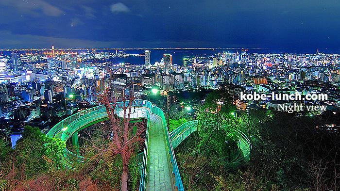 神戸ビーナスブリッジの夜景