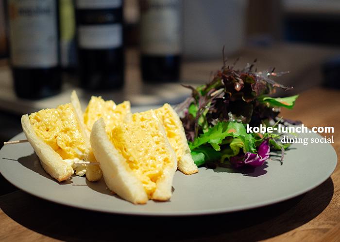 神戸北野 dining social 卵のサンドイッチ