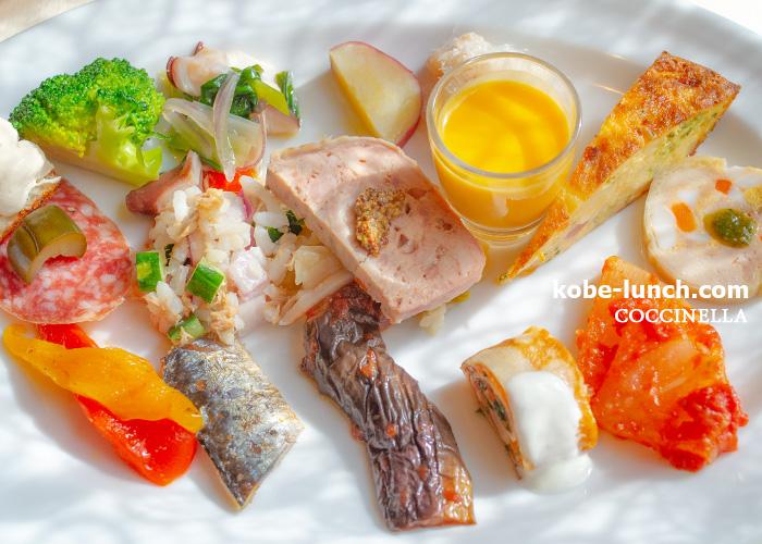 トラットリアコチネッラ 神戸 前菜 アンティパスト