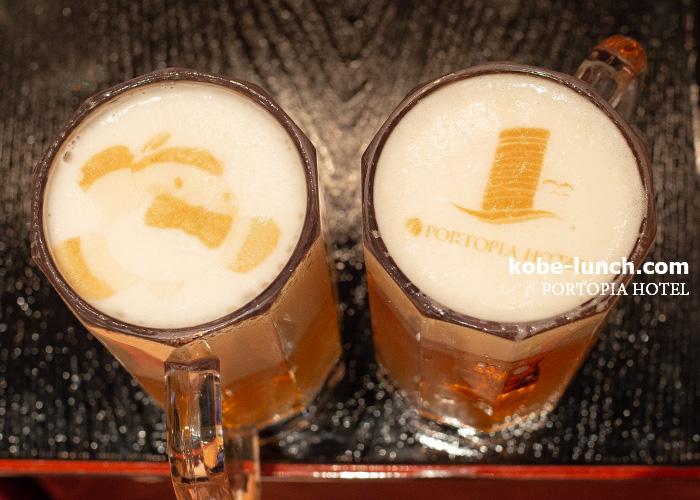 ポートピアホテル ラテアートのようなビール