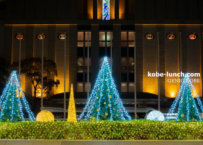 ポートピアホテルのクリスマスツリー