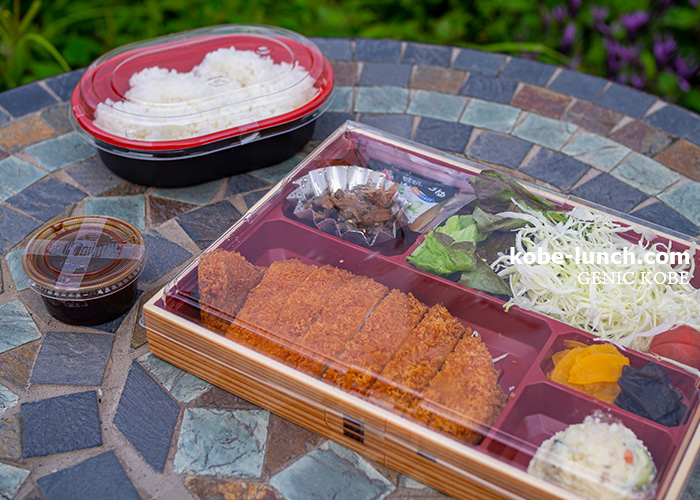 みなと温泉 蓮 神戸高尾牧場の「神戸ポーク」ロースカツ定食